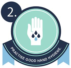 Image of hand for practise good hand hygiene