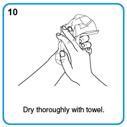 Dry thoroughly with towel.